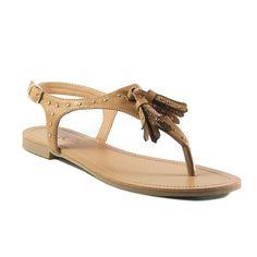 FFC New York Siry Women's Sandals, Girl's, Size: 9, Beig/Green (Beig/Khaki)