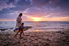 Surfer Family and Sunset by Ellison Acosta, via Flickr