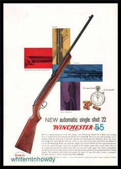 Winchester Firearms, Air Rifle, Print Ads, Guns, Advertising, Texas, Articles, Posters, Antique