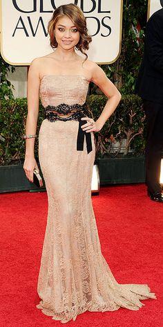 Sarah Hyland in Dolce and Gabbana at the 2012 Golden Globe Awards
