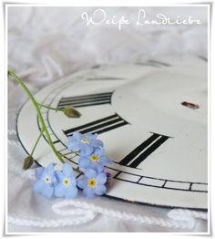 (Via White Country Love: Lilac (2), Forget-Me & flea market treasures)