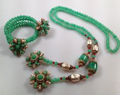 Early Miriam HASKELL Sautoir Necklace and by thepopularjewelry, $795.00