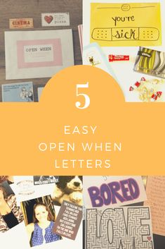 While fun and creative, open when letters can be difficult to make. Here are 5 easy open when letters that are easy to write and put together. Cute Boyfriend Birthday Gifts, Diy Gifts For Boyfriend, Funny Boyfriend, Open When Letters Topics, Open When Letters For Boyfriend, Letter To Best Friend, Open When Cards, Inexpensive Dates, Romantic Dates