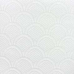 Tissu Damassé Matelassé Cloud écru x 10cm
