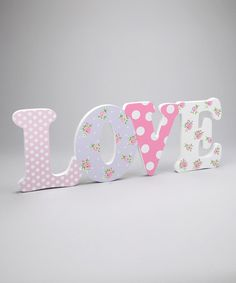 Pink 'Love' Cutout Wall Plaque, www.zulily.com
