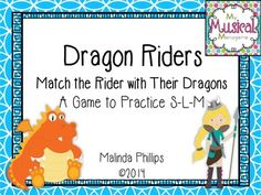 Dragon Riders: A Game to Practice So, La, and Mi. Match the Riders to Their Dragon with this fun melody reading game for the elementary Kodaly music classroom.