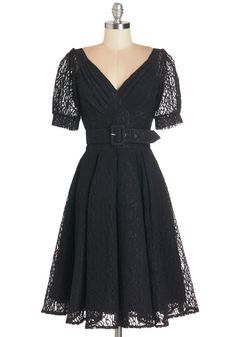 Take a Curtsy Dress. Each time you sport this black lace dress, your friends cheer, Encore! #black #modcloth