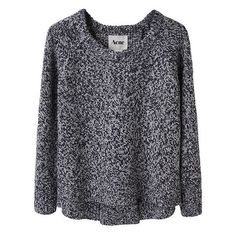 Acne / Ruth Marled Pullover | La Garçonne ❤ liked on Polyvore featuring tops, sweaters, jumpers, shirts, blue pullover, pullover sweater, pullover shirt, blue pullover sweater and marled shirt