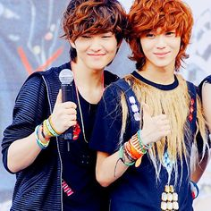 Onew <3 Taemin They look like brothers... and sister xD