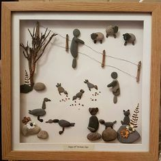 A lovely country scene #pebbleartpiece #pebbleart #pebbleartpicture #farminglife #farming #countrysidelife #countryfolk #smallbusiness #sheep