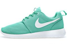 Never wear white tennis shoes.  If you're going to wear sneakers, wear some color. Nike Roshe Run Green