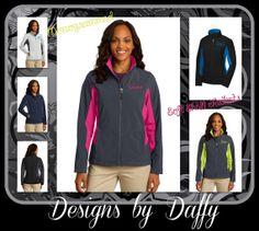 Monogrammed Soft Shell Jacket  Personalized by DesignsbyDaffy, $55.95