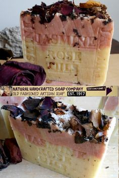 Why jasmine rose soap smells so good! Learn about the different ways to make soap smell good, like essential oils, fragrance oils, and more #jasminesoap #jasmine Rose Soap, Soap Company, Organic Soap, Good Enough To Eat, Handmade Soaps, Smell Good, Fragrance Oil, Soap Making, Jasmine Rose