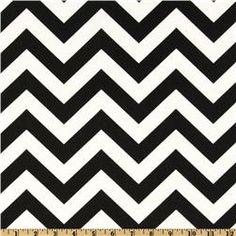curtain fabric Premier Prints ZigZag Black/White Item Number: DC-267 Our Price: $7.48 per Yard