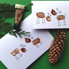 Basteln mit Kindern Unique Christmas card ideas to help you spread festive joy Bridal Jewelry - The Unique Christmas Cards, Christmas Card Crafts, Christmas Activities, Christmas Art, Holiday Crafts, Childrens Homemade Christmas Cards, Beautiful Christmas, Diy Xmas Cards Ideas, Christmas Decorations