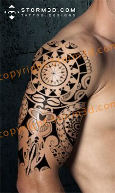 polynesian sleeve tatoos pictures shoulder