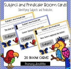 Subject and Predicate Digital BOOM Task Cards. Self-Checking and Grading digital task cards in a fun way! Great reports for teachers. Comprehension Strategies, Reading Comprehension, Teaching Math, Teaching Resources, Motivational Activities, Reading Skills, Guided Reading, Subject And Predicate, Behavior Plans