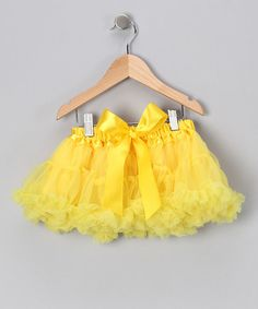 Take a look at this Yellow Pettiskirt - Infant, Toddler & Girls  by Twirls & Curls on #zulily today!