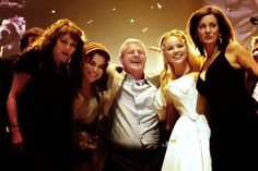 The Original Eponine (Frances Ruffelle) and Cossette (Rebecca Caine) with their 25th Anniversary counterparts Samantha Barks and Katie Hall. And Cameron Mackintosh sandwiched between them.