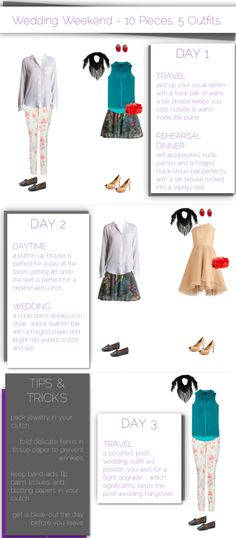 Wedding Weekend Packing List - 10 Pieces, 5 Outfits | Hitha On The Go