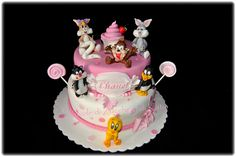 My Favorite Cake so Far!! Thinking about doing a baby looney tunes theme