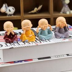 New Creative Four Little Monks Of Chinese Shaolin Kung Fu Boy Resin Model Handmade Cartoon Resin Crafts Home Decoration *** You can find out more details at the link of the image. Shaolin Kung Fu, Baby Buddha, Buddha Face, Little Buddha, Buddha Statue Home, Small Buddha Statue, Buddha Statues, Buddha Decor, Buddha Painting