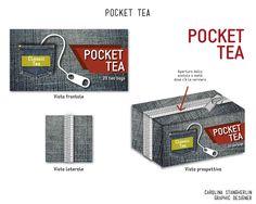 Tea Packaging #pocket #tea #carolinastangherlin #IDP #packaging #jeans