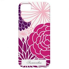 Pink and Purple Mod Floral iPhone 5 Covers $44.95