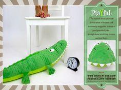 Pillow Personalidade com Fairfield Processamento: brincalhão Recheado Crocodile | Sew4Home