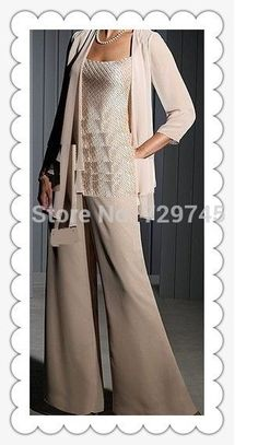 Online Shop Chiffon Long Sleeves Mother of the Bride Pant Suits Wedding Mother Of bride Dress Mother Of The Bride Fashion, Mother Of The Bride Suits, Mother Of Bride Outfits, Mother Of Groom Dresses, Cheap Evening Dresses, Cheap Dresses, Mob Dresses, Women's Fashion Dresses, Special Occasion Dresses