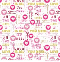 Valentine type design