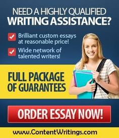 Content Writings has a great solution for all your essay problems. Get online essay help from expert writers who will write custom essay from scratch as per your specific requirements.http://contentwritings.com/services