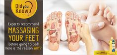 #DidYouKnow  Experts recommend massaging your feet before going to bed! Here is the reason WHY?  Massaging and applying pressure on particular spots of the feet allows you to treat many different ailments and to improve and maintain the proper function of your organs.  This massage is recommended by experts every night before sleeping. You can notice positive results only by massaging your foot for 15-20 mins.  Many nerve endings can be found in your feet which are connected with other…