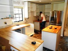 Kitchen : How To Install Upper Cabinets Kitchen Cabinet Installation  Instructions Wood Countertop In Your Home