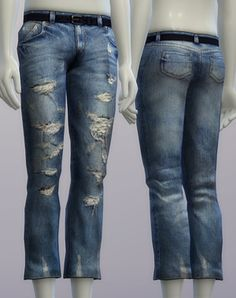 Rusty Nail: Vintage jeans 1 for male • Sims 4 Downloads