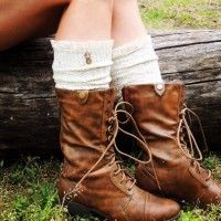 Love this pic! - Oatmeal Socks with Wood Buttons... http://thesocksisters.com/product/boot-socks-with-lace-oatmealwood/