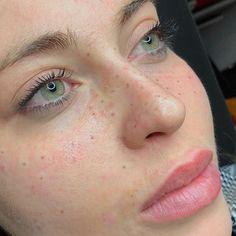Fresh freckles • handpoke • @stellarbrowstattoo