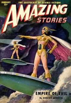 Scificovers Amazing Storiesvolume  January  Cover Art