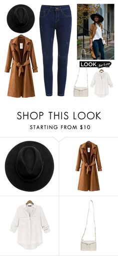 """Look For Less: Denim + Trench"" by leiastyle on Polyvore featuring Chicnova Fashion, Wet Seal, denim, Fedora, crossbody and Trench"