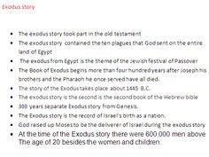 Step Three- The Exodus story