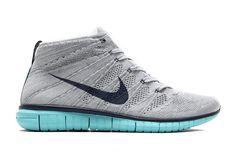 reputable site 75baa 819d5 Nike Free Flyknit Chukka - Wolf Grey - Midnight Navy - Light Aqua -  SneakerNews.com