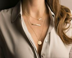 NEW Perfect Bar Necklace.  Personalized Name Plate Necklace in Gold, Silver or Rose Gold: from Layered and Long