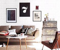 How To Hang Artwork Above A Sofa | HOMES TO LOVE