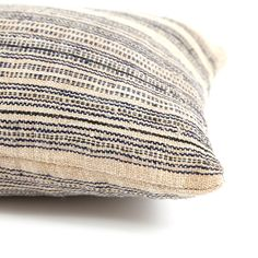 Alsace Ticking Lumbar Pillow from @Serena and Lily BAZAAR
