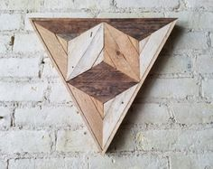 Reclaimed Wood Wall Art Decor Pattern Lath 3D Cube