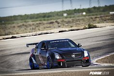 See D3Cadillac's wide body Cadillac CTS-V sedan on Forgeline GA3R racing wheels (finished with Transparent Smoke centers and Transparent Blue outers) on display this weekend in the Toyo Tires display at the 2013 Long Beach Grand Prix!
