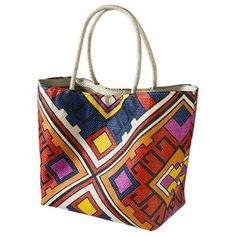 Mossimo® Large Straw Tote - Multicolor : Target Mobile