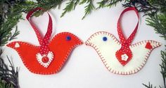 Anna from Tea and a Sewing Machine shows how you can sew a Scandinavian style felt bird Christmas ornament. The birds are a simple swoosh shape with heart appliques and buttons for details. They&…