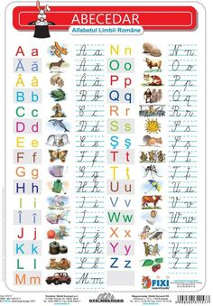 Alfabetul cu liniatura tip 1 DUO - plansa de perete pe Compari. Alphabet Writing, Preschool Writing, Preschool Learning Activities, Animal Activities For Kids, Math For Kids, Fun Math, Kids Math Worksheets, Cursive Letters, Vintage School