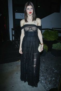 Another of her in black see through dress